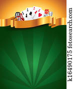 Casino green luxury vertical background