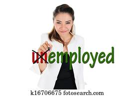 Change word of unemployed to employ