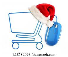 Christmas online shopping concept.