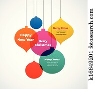 Christmas ornaments - colorful background