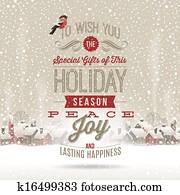 Christmas vector greetings