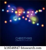 Colourful Glowing Christmas Lights