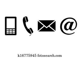Contact black icons.