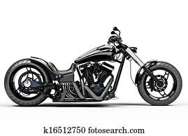 Custom black motorcycle