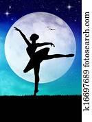 dancer in the moonlight