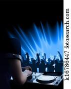 DJ Dance Party Background