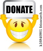 Donate sign