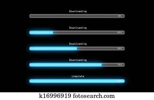 Downloading process dark