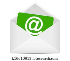 Email symbol in envelope