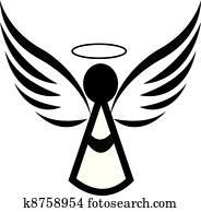 engelchen, symbol, logo