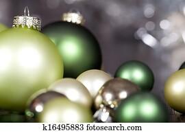 festlicher, glitzer, weihnachtsdeko, flitter, jahreszeitlich