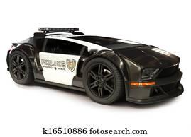 Futuristic Modern Police car