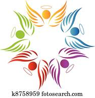 gemeinschaftsarbeit, engelbilder, logo