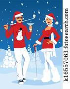 Golf on Christmas