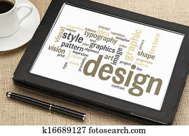 graphic design word cloud