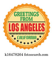 Greetings from Los Angeles label