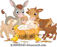 Holy child with animals
