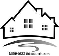 Houses silhouette logo