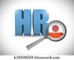 human resources review illustration design