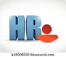 human resources symbol illustration