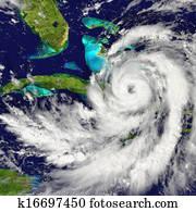 Hurricane over Cuba