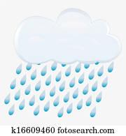icon rain. vector