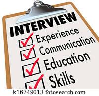Interview Checklist Job Candidate Requirements
