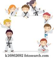 karate, kinder