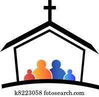 kirche, familie, glaube, logo