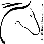 kontur, von, pferd
