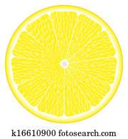 large circle of lemon
