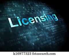 Law concept: Licensing on digital background