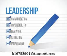 leadership check mark list illustration design
