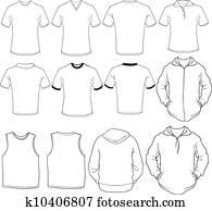 clip art of men s zip hoodie design template k16104226 search