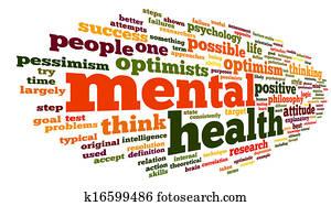 Mental health in word tag cloud