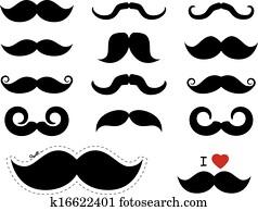 Moustache / mustache icons - Movember