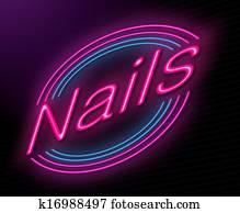 Nail salon concept.