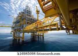 Oil and gas platform in offshore or