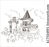 Old building sketch