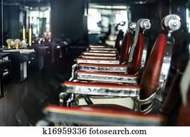 Old-styled barber shop