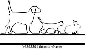 Pets walking logo