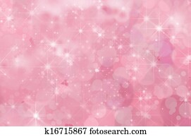 Pink Abstract Star Background