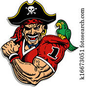 pirate football player
