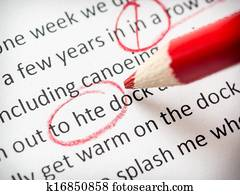 Proofreading red pencil