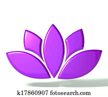 Purple lotus flower 3D image