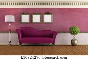 Purple vintage room