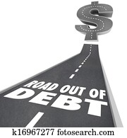 Road Out of Debt Financial Problem Money Help