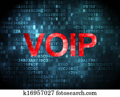 SEO web development concept: VOIP on digital background