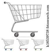shoppen, cart.