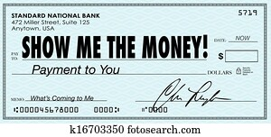 Show Me the Money Check Payday Earnings Wages